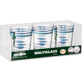 Brunner Zestaw szklanek, niebieski/przezroczysty